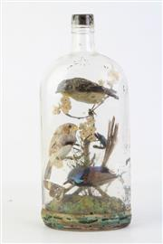 Sale 8818N - Lot 603 - Birds In A Bottle Diorama H:28cm