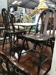 Sale 8822 - Lot 1572 - Set of 3 Vintage Hoop Back Dining Chairs