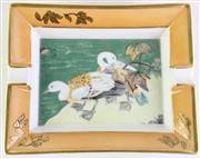 Sale 8887 - Lot 51 - A Hermes Ash Tray with Bird Motif (L 19cm W 15.5cm)