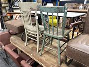 Sale 8896 - Lot 1061 - Set of 3 Rustic Chairs