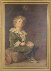 Sale 8949 - Lot 2061 - After John Everett Millais - A Framed Print of the Pears Soap Boy (83 x 60cm)