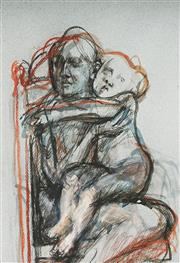 Sale 9063A - Lot 5016 - Margaret Woodward (1938 - ) - Mother and Child 31 x 21 cm (frame: 54 x 44 x 2 cm)