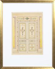 Sale 8697A - Lot 6 - Antique Italian Architectural Study - The Ballroom Doors