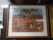 Sale 8419T - Lot 2021 - Hugh Sawrey - Along the Dear Mantina River 48 x 62cm
