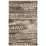 Sale 8913H - Lot 6 - India Sahara Design Rug in Charcoal, 120X105cm, Handspun Wool