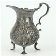 Sale 8342 - Lot 38 - English Hallmarked Sterling Silver George II Cream Jug