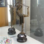 Sale 8379 - Lot 26 - Statue of a Lady Hoop Dancer, bronze on base, H-54cm