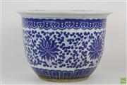 Sale 8555 - Lot 14 - Blue And White Chinese Jardiniere