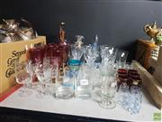 Sale 8582 - Lot 2497 - Collection of Glasses & Decanters