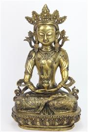 Sale 8667 - Lot 8 - Brass Buddha Figure ( H 43cm)