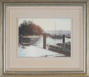 Sale 8838A - Lot 5200 - David Perks - Bayview Sun, 1974 22.5 x 30cm