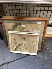 Sale 8895 - Lot 2063 - Set of 5 Oriental Paintings, on silk