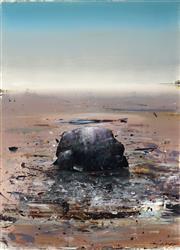 Sale 8926H - Lot 78 - Ken Johnson (1950-) - Beachscape - Rock on Sand SLR