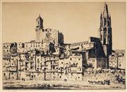 Sale 9021 - Lot 587 - Lionel Lindsay (1874 - 1961) - Gerona 21 x 29.5 cm
