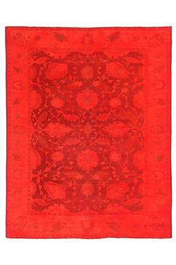 Sale 9090C - Lot 10 - Turkish Vintage Red Overdye, 200x255cm, Handspun Wool