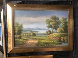 Sale 9147 - Lot 2037 - Artist Unknown, Landscape, oil on canvas, 82 x 115 cm, unsigned