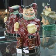 Sale 8351 - Lot 6 - Royal Doulton Character Jugs Honest Messure, Sir John Falstaff & a Anna Figure