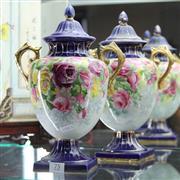 Sale 8362 - Lot 75 - English Ceramic Floral Themed Vases