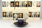 Sale 8441 - Lot 14 - Bing & Grøndahl Composer Series Set of Ten Cups & Saucers