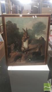 Sale 8446 - Lot 2053 - Timber Framed Rabbit Prints
