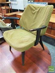 Sale 8451 - Lot 1016 - Set of 3 Upholstered Lounge Chairs