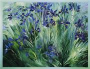 Sale 8492 - Lot 515 - David Voigt (1944 - ) - The Iris Garden, 1995 80 x 100cm