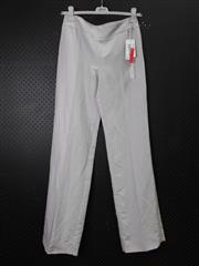 Sale 8514H - Lot 84 - Armani Light Grey Linen-Look Pants - UK size 10