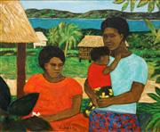 Sale 8616 - Lot 574 - Ray Crooke (1922 - 2015) - Island Mother and Child 51 x 61cm