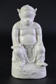 Sale 8860V - Lot 84 - A Crackle Glaze Zoomorphic Figure(H 19cm)
