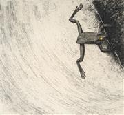 Sale 8870A - Lot 503 - David Rose (1936 - 2006) - Frog on Edge, 1979 45 x 45 cm