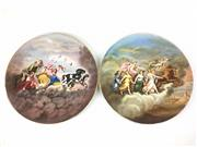 Sale 8995H - Lot 76 - A pair of Royal Vienna chargers decorated with Classical scenes, diameter 38.5cm