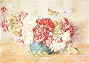 Sale 9013 - Lot 592 - Frances Vida Lahey (1882 - 1968) - Floral Still Life 31.5 x 44 cm (frame: 50 x 60 x 2 cm)