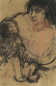 Sale 9063A - Lot 5026 - Margaret Woodward (1938 - ) - Priya and Baby, 1994 20.5 x 13.5 cm (frame: 34 x 36 x 2 cm)