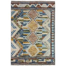 Sale 9090C - Lot 11 - Indian Moroccan Design Ribbed Rug, 160x230cm, Handspun Wool