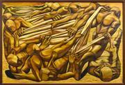 Sale 8325 - Lot 535 - Hayden Wilson (1955 - ) - Ritual Bearings, 1988 120.5 x 181cm