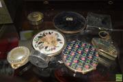 Sale 8509 - Lot 2214 - Collection of Make Up Boxes inc Pill Box