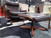 Sale 8782 - Lot 1055 - Tessa Swivel Armchair and Footstool