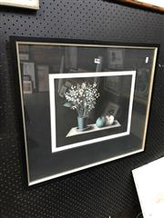 Sale 8865 - Lot 2012 - Mario Avanti, Still Life mezzotint,64.5 x 57cm, signed lower left
