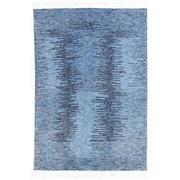Sale 8913H - Lot 9 - India Ribbbed Indigo Design Rug, 200x300cm, Handspun Wool