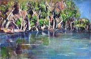 Sale 9082 - Lot 2075 - Eddi Kewley - Hawkesbury River 48 x 74 cm