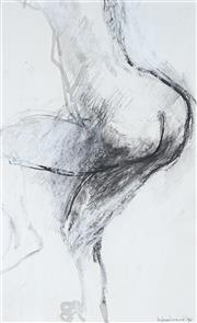 Sale 9063A - Lot 5007 - Margaret Woodward (1938 - ) - Nude Study (One for Ed), 1996 20.5 x 13 cm (frame: 44 x 36 x 1 cm)