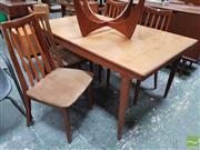Sale 8451 - Lot 1097 - A G-Plan Extension Dining Table with a Set of Four Chairs, unextended D 122cm