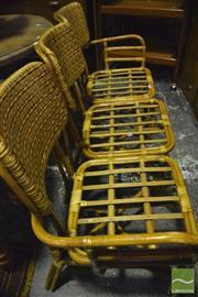 Sale 8371 - Lot 1055 - Cane 3 Piece Lounge