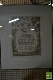 Sale 8522 - Lot 2086 - Framed Vintage Poster