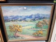 Sale 8563T - Lot 2079 - Edith Williams, Hunter Valley Farm, oil, 51x60cm