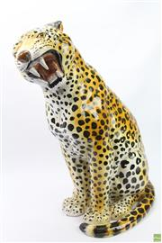 Sale 8630 - Lot 1 - Large Ceramic Leopard