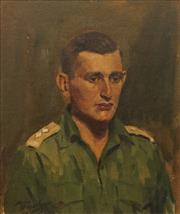 Sale 8648B - Lot 2003 - John Frawley (1915 - ?) - Portrait of a Cadet 45.5 x 39cm