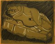 Sale 8656 - Lot 598 - Charles Blackman (1928 - 2018) - The Embrace, 1969 42 x 52cm (frame: 79 x 84.5cm)
