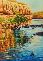 Sale 8656 - Lot 506 - Sergio Sill (1946 - ) - Katherine Gorge, NT 111 x 90cm