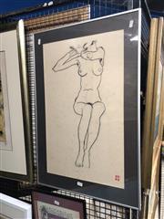 Sale 8797 - Lot 2044 - Ian Kerridge - Sunday charcoal, 75.5 x 50cm, signed